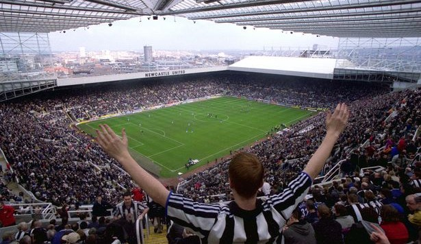 Fans in St James' Park