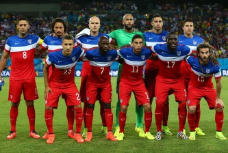 NATAL, BRAZIL - JUNE 16:  The United States players pose for a team photo before the 2014 FIFA World Cup Brazil Group G match between Ghana and the United States at Estadio das Dunas on June 16, 2014 in Natal, Brazil.  (Photo by Kevin C. Cox/Getty Images)
