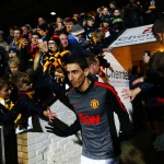 CAMBRIDGE, ENGLAND - JANUARY 23:  Angel di Maria of Manchester United walks out for the warm-up before the FA Cup Fourth Round match between Cambridge United and Manchester United at The R Costings Abbey Stadium on January 23, 2015 in Cambridge, England.  (Photo by Julian Finney/Getty Images)