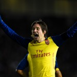 BRIGHTON, ENGLAND - JANUARY 25:  Tomas Rosicky of Arsenal celebrates after scoring his team's third goal during the FA Cup Fourth Round match between Brighton & Hove Albion and Arsenal at Amex Stadium on January 25, 2015 in Brighton, England.  (Photo by Mike Hewitt/Getty Images)
