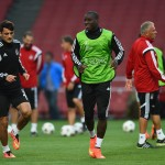 LONDON, ENGLAND - AUGUST 26:  Demba Ba of Besiktas warms up during a training session at Emirates Stadium on August 26, 2014 in London, United Kingdom.  (Photo by Shaun Botterill/Getty Images)