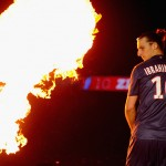 PARIS, FRANCE - MAY 18: Zlatan Ibrahimovic looks on after the Ligue 1 match between Paris Saint-Germain FC and Stade Brestois 29 at Parc des Princes on May 18, 2013 in Paris, France.  (Photo by Michael Regan/Getty Images)