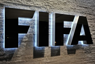 ZURICH, SWITZERLAND - OCTOBER 20:  The FIFA logo is seen outside the FIFA headquarters during to the FIFA Executive Committee Meeting on October 20, 2011 in Zurich, Switzerland. During this third meeting of the year, held on two days, the FIFA Executive Committee will approve the match schedules for the FIFA Confederations Cup Brazil 2013 and the 2014 FIFA World Cup Brazil.  (Photo by Harold Cunningham/Getty Images)