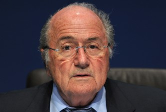 ZURICH, SWITZERLAND - OCTOBER 21:  FIFA president, Sepp Blatter delivers a speech during a press conference held after the FIFA Executive Committee Meeting at the FIFA headquarters on October 21, 2011 in Zurich, Switzerland. During this third meeting of the year, held on two days, the FIFA Executive Committee has approved the match schedules for the FIFA Confederations Cup Brazil 2013 and the 2014 FIFA World Cup Brazil.  (Photo by Harold Cunningham/Getty Images)