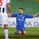 UDINE, ITALY - DECEMBER 06:  Daniele Padelli goalkeeper of Udinese shows his dejection after Jordan Henderson scored during the UEFA Europa League Group A match between Udinese Calcio and Liverpool FC on December 6, 2012 in Udine, Italy.  (Photo by Dino Panato/Getty Images)