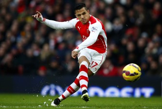 xxxx during the Barclays Premier League match between Arsenal and Stoke City at Emirates Stadium on January 11, 2015 in London, England.