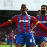LONDON, ENGLAND - MAY 09:  Jason Puncheon of Crystal Palace celebrates his team's first goal with Mile Jedinak during the Barclays Premier League match between Crystal Palace and Manchester United at Selhurst Park on May 9, 2015 in London, England.  (Photo by Clive Rose/Getty Images)