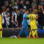 WEST BROMWICH, ENGLAND - MAY 18:  Referee Mike Jones shows a red card to Cesc Fabregas of Chelsea (obscured 2R) as he is sent off during the Barclays Premier League match between West Bromwich Albion and Chelsea at The Hawthorns on May 18, 2015 in West Bromwich, England.  (Photo by Shaun Botterill/Getty Images)