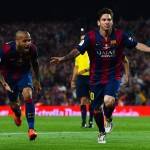 BARCELONA, SPAIN - MAY 30:  Lionel Messi of FC Barcelona celebrates after scoring the opening goal during the Copa del Rey Final match between FC Barcelona and Athletic Club at Camp Nou on May 30, 2015 in Barcelona, Spain.  (Photo by David Ramos/Getty Images)