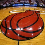 MIAMI, FL - MAY 22:  A view of the Miami Heat logo on the court during Game One of the Eastern Conference Finals between the Miami Heat and the Indiana Pacers at AmericanAirlines Arena on May 22, 2013 in Miami, Florida. NOTE TO USER: User expressly acknowledges and agrees that, by downloading and or using this photograph, user is consenting to the terms and conditions of the Getty Images License Agreement.  (Photo by Mike Ehrmann/Getty Images)
