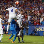 FRISCO, TX - JULY 07:  Clint Dempsey #8 of USA scores against Donis Escober #22 of Honduras during the 2015 CONCACAF Gold Cup Group A match between USA and Honduras at Toyota Stadium on July 7, 2015 in Frisco, Texas.  (Photo by Tom Pennington/Getty Images)