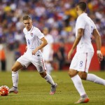 FOXBORO, MA - JULY 10:  Aron Johannsson #9 of United States carries the ball during the 2015 CONCACAF Gold Cup Group A match between United States and Haiti at Gillette Stadium on July 10, 2015 in Foxboro, Massachusetts.  (Photo by Maddie Meyer/Getty Images)