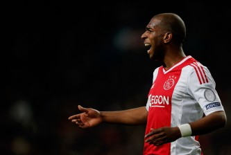 AMSTERDAM, NETHERLANDS - APRIL 19:  Ryan Babel of Ajax gives instructions to team mates during the  Eredivisie match between Ajax Amsterdam and SC Heerenveen at Amsterdam Arena on April 19, 2013 in Amsterdam, Netherlands.  (Photo by Dean Mouhtaropoulos/Getty Images)