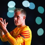 BARCELONA, SPAIN - AUGUST 05:  Marc-Andre Ter Stegen of FC Barcelona waves during the team official presentation ahead of the Joan Gamper trophy match at Camp Nou on August 5, 2015 in Barcelona, Spain.  (Photo by David Ramos/Getty Images)