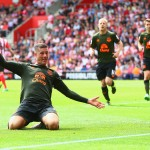 SOUTHAMPTON, ENGLAND - AUGUST 15:  Ross Barkley of Everton celebrates scoring his team's third goal during the Barclays Premier League match between Southampton and Everton at St Mary's Stadium on August 15, 2015 in Southampton, United Kingdom.  (Photo by Jordan Mansfield/Getty Images)
