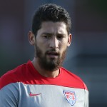 BOSTON, MA - OCTOBER 08:  Omar Gonzalez trains during a United States men's soccer training session at Ohiri Field on October 8, 2014 in Boston, Massachusetts.  (Photo by Mike Lawrie/Getty Images)