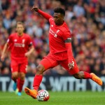 LIVERPOOL, ENGLAND - SEPTEMBER 20: Daniel Sturridge of Liverpool in action during the Barclays Premier League match between Liverpool and Norwich City at Anfield on September 20, 2015 in Liverpool, United Kingdom.  (Photo by Alex Livesey/Getty Images)