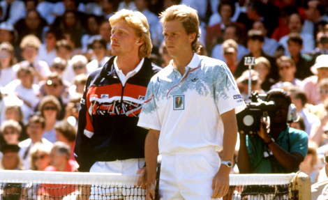 Severin Luthi is Roger Federer's main coach, but with that having been said, it will be impossible to ignore the presence of Stefan  Edberg as a Federer consultant on Sunday, as the Swiss goes against Novak Djokovic, coached by Boris Becker. More than a quarter of a century ago, Edberg and Becker began a run of three straight Wimbledon finals against each other. Now, from the coaches' box, these esteemed Wimbledon champions will watch two other Wimbledon champions fight for an elevated place in the sport's history.
