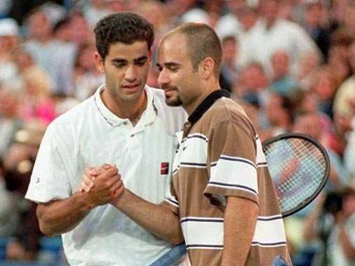 Two men entered Louis Armstrong Stadium as champions. One of them left the stadium with a career-making achievement. The other lost what had appeared to be a career-breaking match... for the next three years, at any rate. To his great credit, Andre Agassi eventually did rebound from this gut punch of a loss to his foremost rival.