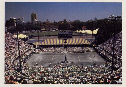 Bjorn Borg had his chance to win the U.S. Open on clay in 1976, but he couldn't solve Jimmy Connors. When the tournament moved to hardcourts a few years later, Borg wasn't able to deal with John McEnroe's attacking style, which was enhanced by the faster surface at the USTA National Tennis Center.