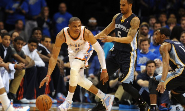 Russell Westbrook's knee injury has played a part in the closing of the Thunder's window. Photo by Mark D. Smith-USA TODAY Sports
