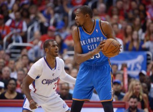 The rumors about Kevin  Durant's upcoming free agency are likely not stopping soon. Photo by Kirby Lee-USA TODAY Sports