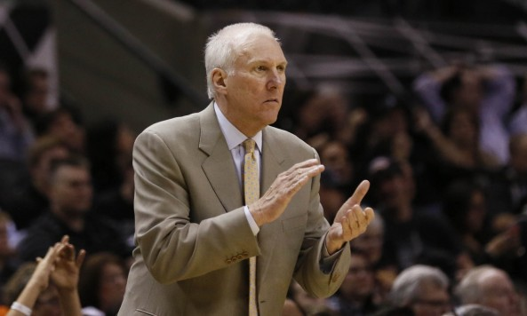 Gregg Popovich motivated his team by showing them their failure in Game Six. Photo by Soobum Im-USA TODAY Sports