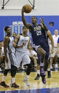 DeQuan Jones participated in his third Summer League with the Pacers in Orlando. He reportedly will sign in Italy this year. AP Photo/John Raoux