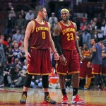 It would be hard for Kevin Love to leave the company of LeBron James. Photo by Dennis Wierzbicki-USA TODAY Sports