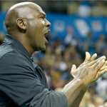 Michael Jordan clapping