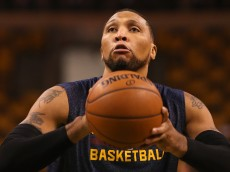 BOSTON, MA - NOVEMBER 14: Shawn Marion #31 of the Cleveland Cavaliers warms up prior to a game against the Boston Celtics at TD Garden on November 14, 2014 in Boston, Massachusetts. NOTE TO USER: User expressly acknowledges and agrees that, by downloading and or using this photograph, User is consenting to the terms and conditions of the Getty Images License Agreement.  (Photo by Mike Lawrie/Getty Images)