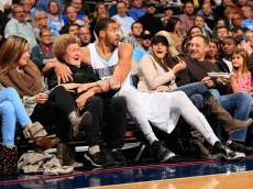at Pepsi Center on November 21, 2014 in Denver, Colorado. The Nuggets defeated the Pelicans 117-97. NOTE TO USER: User expressly acknowledges and agrees that, by downloading and or using this photograph, User is consenting to the terms and conditions of the Getty Images License Agreement.