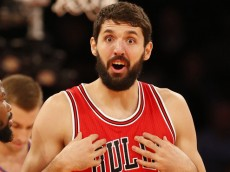 PARTIDO DE LA NBA ENTRE CHICAGO BULLS Y NEW YORL KNIGTS EN EL MADISON SQUARE GARDEN