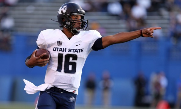 Utah State quarterback Chuckie Keeton. Photo: USA Today Sports
