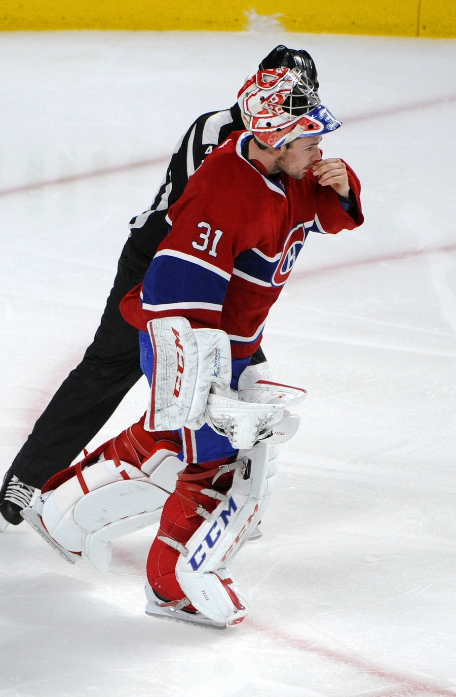 Carey Price Does Some Dental Work Hands Pieces Of His