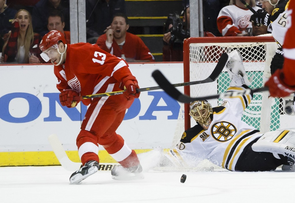 NHL: Stanley Cup Playoffs-Boston Bruins at Detroit Red Wings