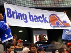 OTTAWA, ON - JANUARY 14:  A Quebec Nordiques fan shows his support for their return to the NHL at a game between the Calgary Flames and the Ottawa Senators at Scotiabank Place on January 14, 2011 in Ottawa, Canada.  (Photo by Phillip MacCallum/Getty Images)