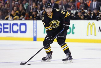 BOSTON, MA - MARCH 08:  Dougie Hamilton #27 of the Boston Bruins skates against the Detroit Red Wings at TD Garden on March 8, 2015 in Boston, Massachusetts.  (Photo by Maddie Meyer/Getty Images)