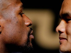 Boxing - Floyd Mayweather & Marcos Maidana Head-to-Head Press Conference - Hollywood Theatre