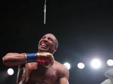 OAKLAND, CA - JUNE 20: Andre Ward celebrates after beating Paul Smith in the eighth round during their Cruiserweight fight at ORACLE Arena on June 20, 2015 in Oakland, California. (Photo by Alexis Cuarezma/Getty Images)