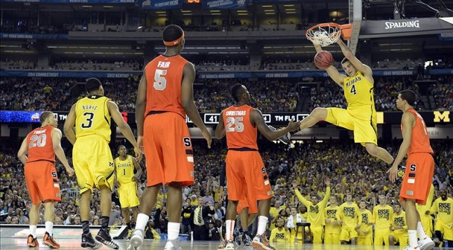 Syracuse-Michigan is the most recent national semifinal. Which ones are the best, though?