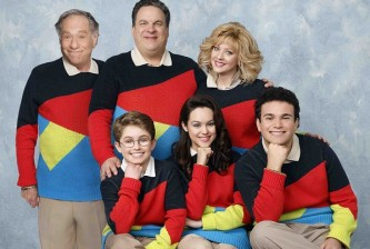 STANDING: GEORGE SEGAL, JEFF GARLIN, WENDI MCLENDON-COVEY;  SEATED: SEAN GIAMBRONE, HAYLEY ORRANTIA, TROY GENTILE