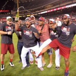 Angels celebrate the AL West