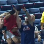 Braves fan smashed by foul ball