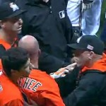 Casey McGehee gets upset after Giancarlo Stanton's plunking