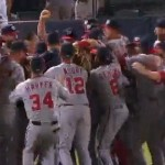 The Washington Nationals celebrate their NL East title