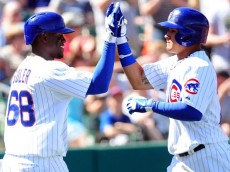 Jorge Soler and Javier Baez of the Chicago Cubs