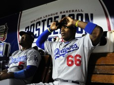Yasiel Puig of the Dodgers