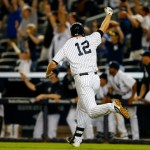 NEW YORK, NY - SEPTEMBER 04: Chase Headley #12 of the New York Yankees celebrates after hitting a walk off home run in the ninth inning to defeat of the Boston Red Sox 5-4 during a MLB baseball game at Yankee Stadium on September 4, 2014 in the Bronx borough of New York City. (Photo by Rich Schultz/Getty Images)