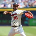 ATLANTA, GA - SEPTEMBER 21:  Ervin Santana #30 of the Atlanta Braves pitches against the New York Mets during the first inning at Turner Field on September 21, 2014 in Atlanta, Georgia. (Photo by Kevin Liles/Getty Images)